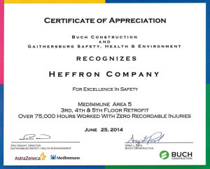 Buch Construction Safety Award